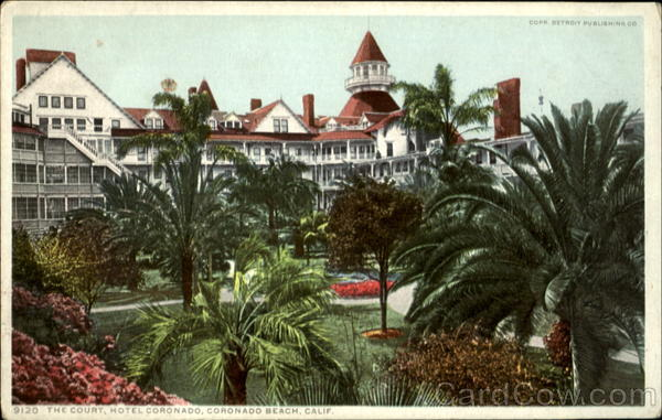 9120 THe Court, Hotel Coronado, Coronado Beach, Calif California
