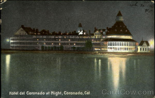 Hotel del Coronado at Night California