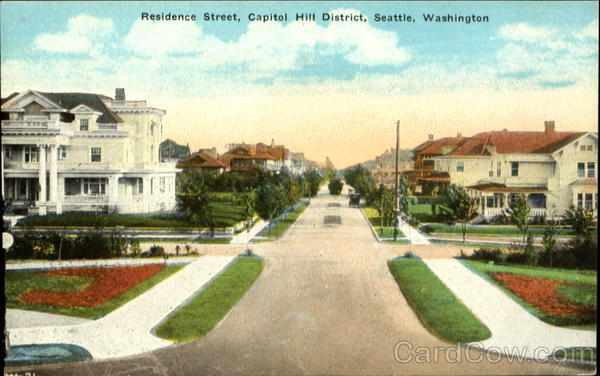 Residence Street, Capitol Hill District Seattle Washington