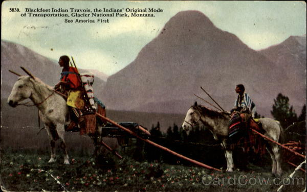 Blackfeet Indian Travois Glacier National Park Montana