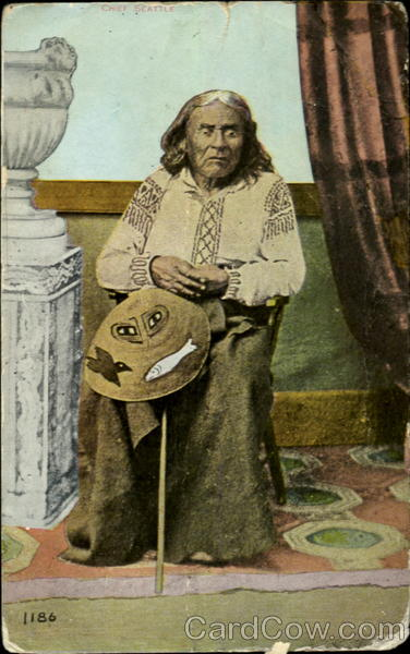 Photograph of Indian Chief Seattle Washington