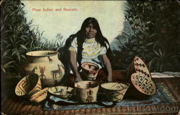 Pima Indian and Baskets Native Americana