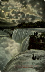 American Falls from Goat Island, by night
