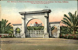 Entrance to Point Loma Homestead showing Raja Yoga Academy