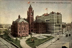 Los Angeles County Court House and Hall of Records Postcard
