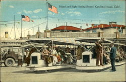 Hotel and Sight Seiing Busses, Catalina Island, Calif Postcard