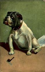 Bulldog with Pipe