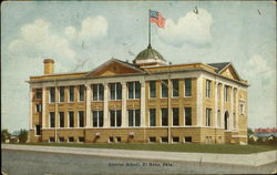 Central School, El Reno, Okla Postcard
