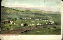 Indian Camp on the Plains Postcard
