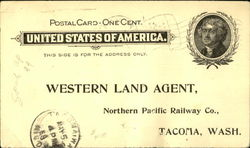 Western Land Agent, Northern Pacific Railway Co