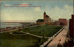 Lake Front, looking South Postcard