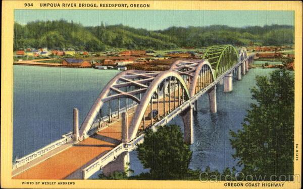 Umpqua River Bridge, Oregon Coast Highway Reedsport