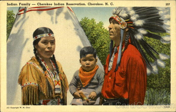 Indian Family -- Cherokee Indian Reservation North Carolina