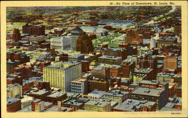 58- Air View of Downtown, St. Luouis, Mo St. Louis Missouri