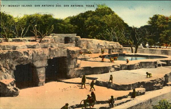 Monkey Island, San Antonio Zoo Texas
