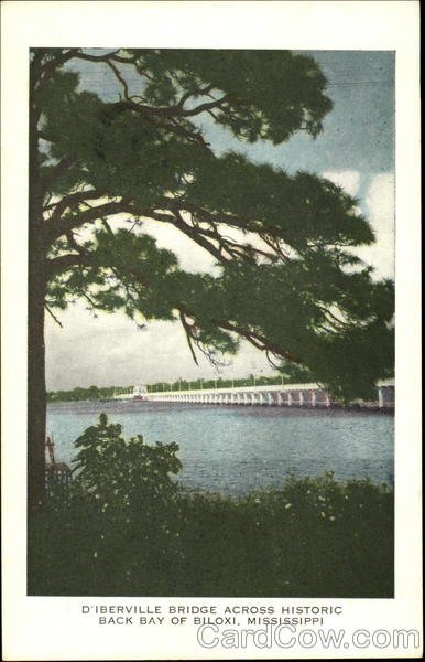 D'Iberville Bridge Across Historic Back Bay of Biloxi Mississippi
