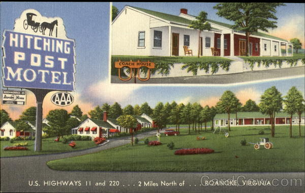 Hitching Post Motel Roanoke Virginia