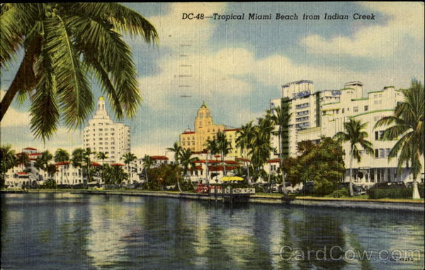 DC-48 - Tropical Miami Beach from Indian Creek Florida