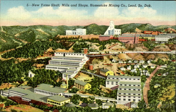 5-New Yates Shaft, Mills and Shops, Homestake Mining Co Lead South Dakota