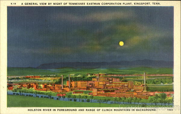 A general view by night of Tennessee Eastern Corporation Plan Kingsport