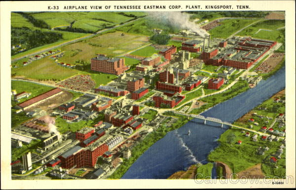 Airplane View of Tennessee Eastman Corp. Plant Kingsport