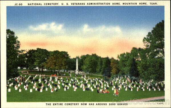 JC-90 National Cemetry, U. S. Veterans Administration Home, Mountain Home, Tenn Tennessee
