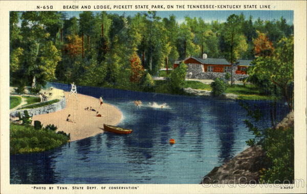 Beach and Lodge, Pickett State Park Tennessee