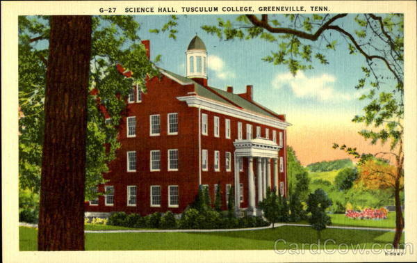 Science Hall, Tusculum College Greeneville Tennessee