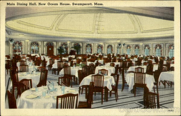 Main Dining Hall, New Ocean House Swampscott Massachusetts