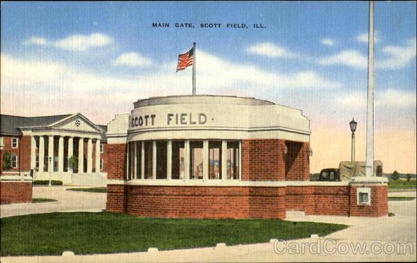 Main Gate, Scott Feild, ILL Scott Field Illinois