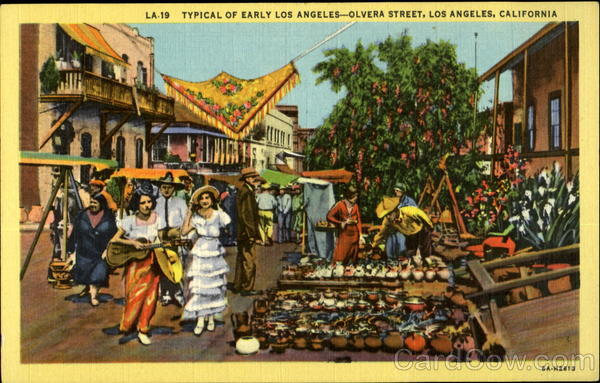 Typical of Early Los Angles - Olvera Street Los Angeles California