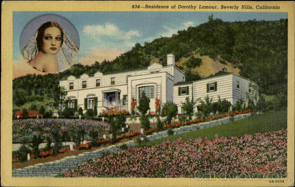 834 - Residence of Dorothy Lamour, Beverly Hills, California
