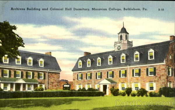 Archives Building and Colonial Hall Dormitory, Moravian College Bethlehem Pennsylvania