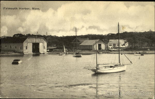 Boats and Boat Sheds - Falmouth Harbor Massachusetts