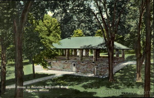Shelter House in Beautiful Glenwood Park Macomb Illinois