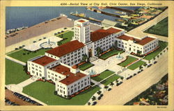 Aerial View of City Hall, Civic Center