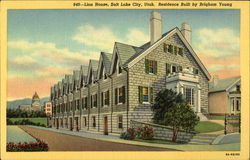 849 -- Lion House, Residence Built by Brigham Young Postcard