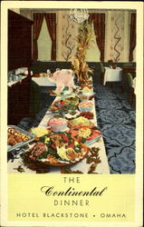 The Continental Dinner Hotel Blackstone Postcard