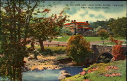 The State Game Lodge Hotel. Custer State Park. Balck Hills, South Dakota