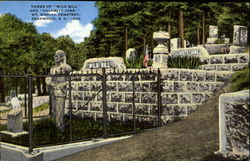 "Tombs of ""Wild Bill"" and ""Calamity Jane,"" Mt. Moriah Cemetery, Deadwood, S. D. - 300"