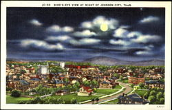 Bird's-eye view at night of Johnson City, Tenn