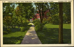 Campus Scene and Girls Dormitory, East Tennessee State College