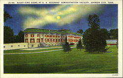 Night-Time Scene at U.S. Veterans' Administration Facility