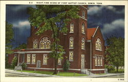 Night-Time scene of First Baptist Church