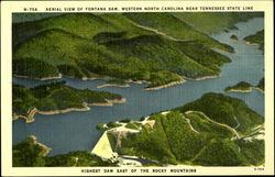 Aerial View of Fontana Dam, Western North Carolina near Tennessee State line