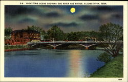 Doe and River Bridge Postcard