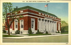 U.S Post Office ,Elizabethton, Tenn Postcard