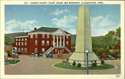 Carter County Court House and Monument Postcard