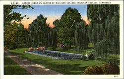Garden Scene on Campus of Milligan College