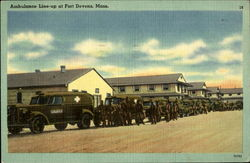 Ambulance Line-up at Fort Devens, Mass